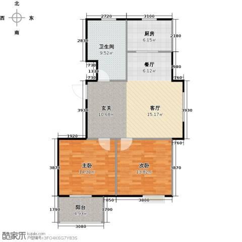 丁桥颐景园2室0厅1卫1厨87.00㎡户型图