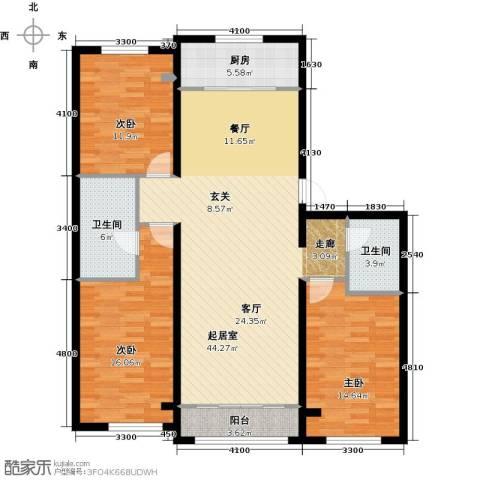 纳帕澜郡3室0厅2卫1厨139.00㎡户型图