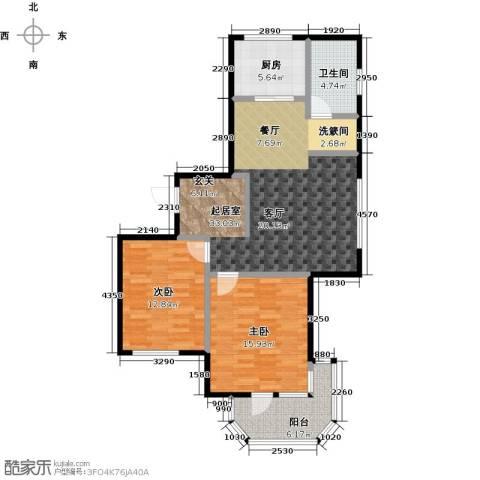 中信森林湖香樟林2室0厅1卫1厨88.24㎡户型图