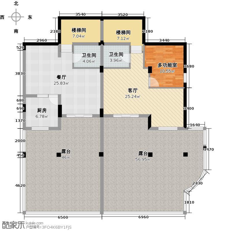 新湖果岭320.00㎡C山地情趣空间层平面图户型10室