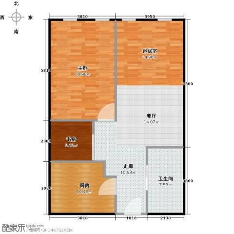 百大绿城西子国际2室2厅1卫0厨87.00㎡户型图