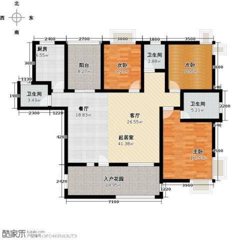 上上城3室0厅3卫1厨158.00㎡户型图