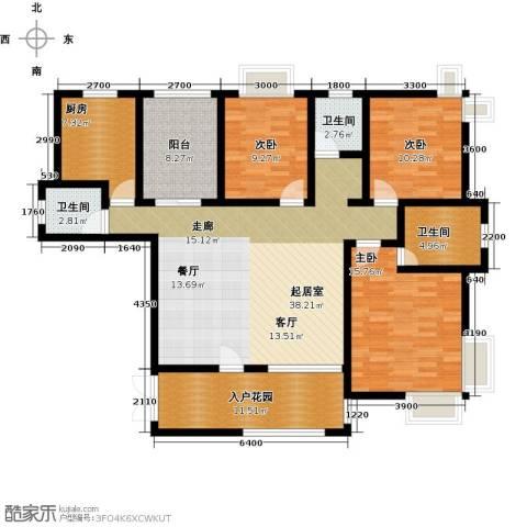 上上城3室0厅3卫1厨150.00㎡户型图