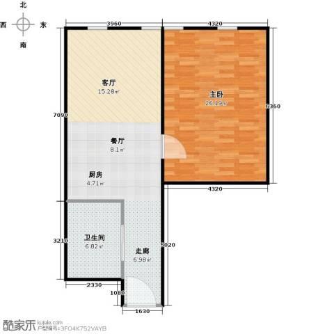 百大绿城西子国际1室1厅1卫0厨70.00㎡户型图