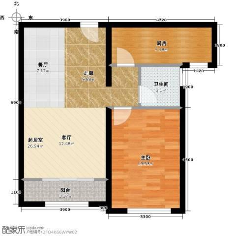 纳帕澜郡1室0厅1卫1厨74.00㎡户型图