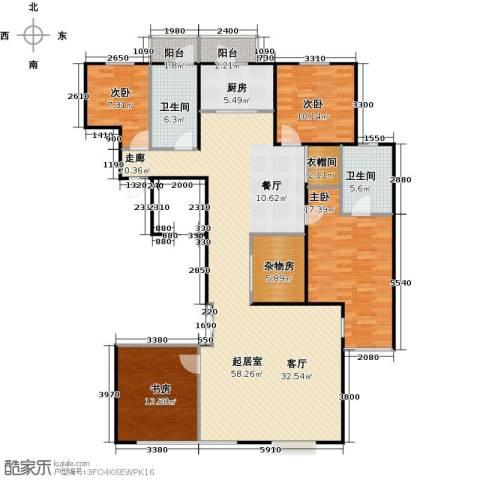 瑞雪春堂4室0厅2卫1厨164.00㎡户型图