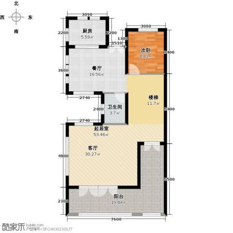保利生态城1室0厅1卫1厨129.00㎡户型图
