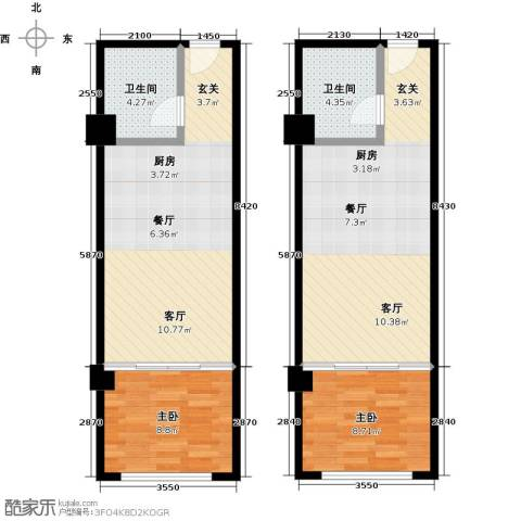 零点特区2室0厅2卫0厨70.44㎡户型图