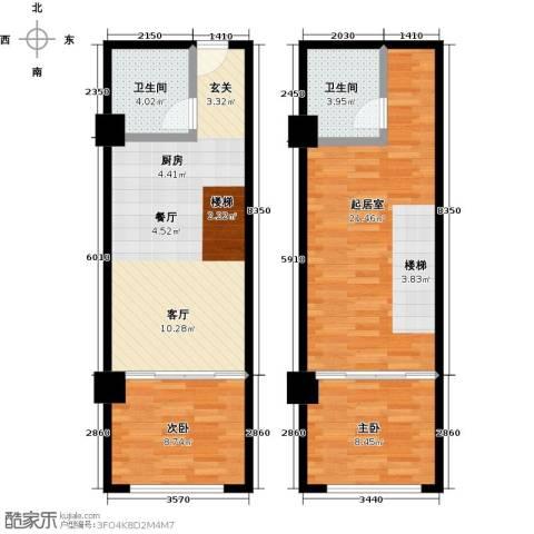 零点特区2室0厅2卫0厨83.00㎡户型图