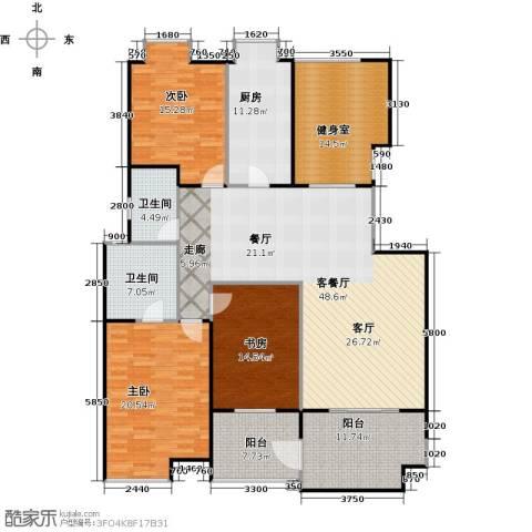 益田影人四季花园3室1厅2卫1厨155.75㎡户型图