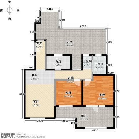 中国铁建・花语城2室0厅1卫1厨114.44㎡户型图
