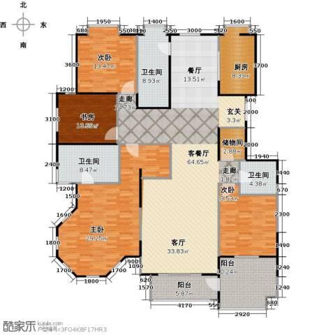 益田影人四季花园4室1厅3卫1厨270.00㎡户型图