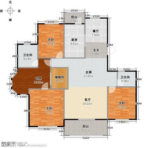 丁桥颐景园4室0厅2卫1厨143.60㎡户型图