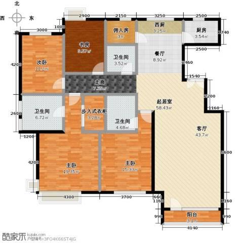 领秀慧谷4室0厅3卫1厨180.00㎡户型图