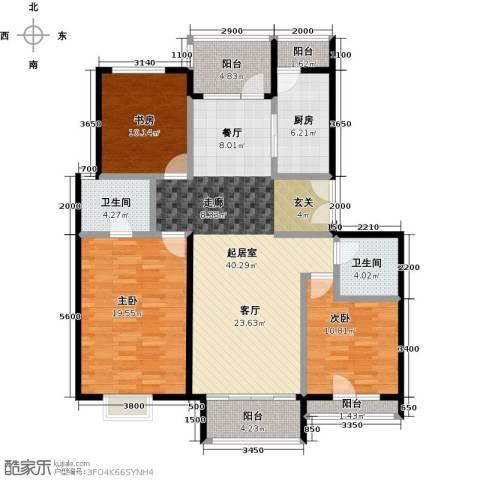 领秀慧谷3室0厅2卫1厨138.00㎡户型图