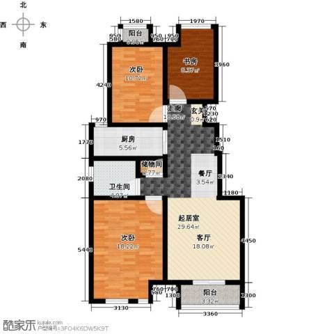 万科幸福汇3室0厅1卫1厨95.00㎡户型图