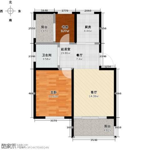 金狮薇尼诗花园2室0厅1卫1厨73.00㎡户型图