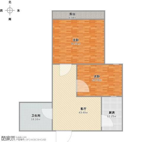 德裕家园2室1厅1卫1厨192.00㎡户型图