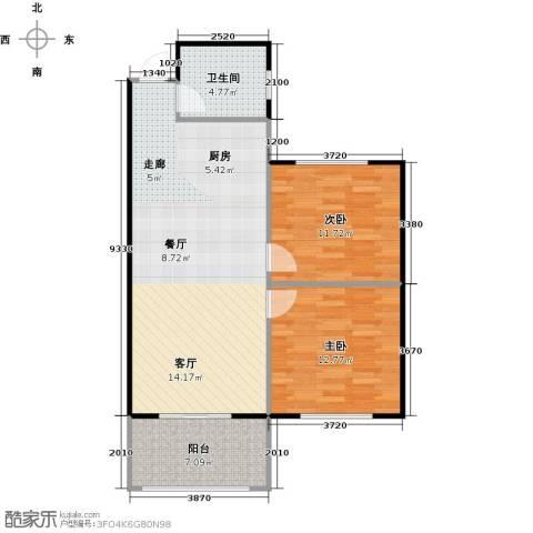 丁桥颐景园2室0厅1卫0厨73.00㎡户型图