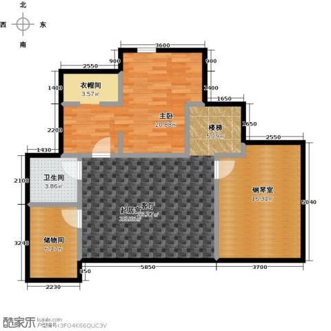 领秀・翡翠山1室0厅1卫0厨76.07㎡户型图