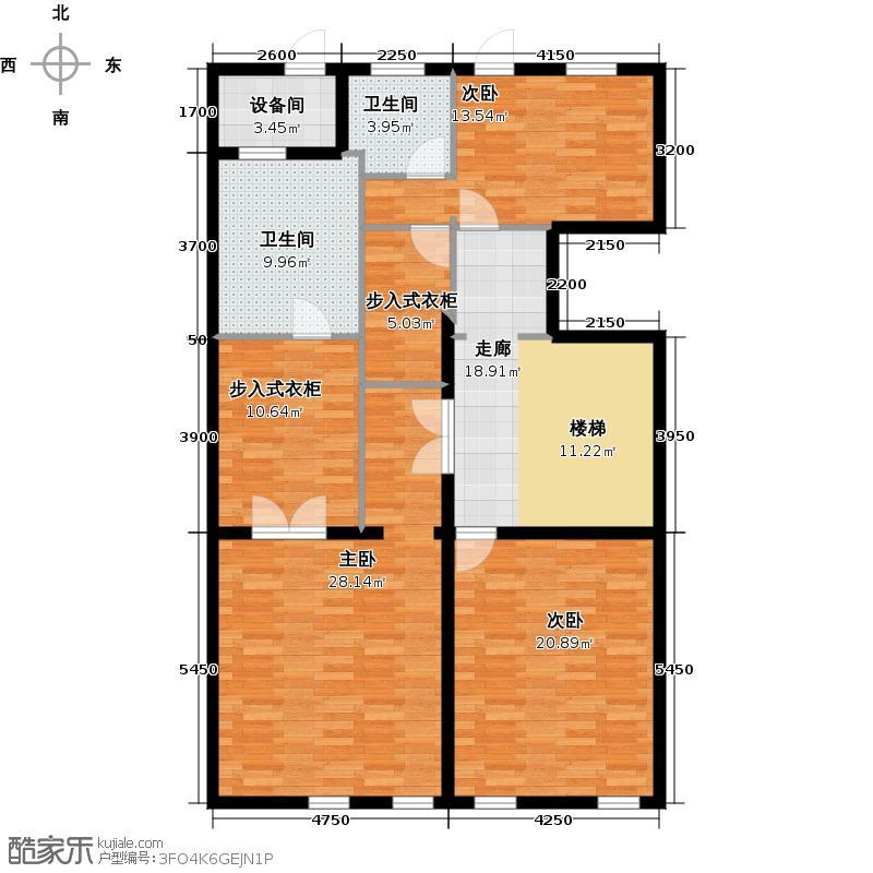 溪上玫瑰园503.00㎡二期依云苑C二层户型5室4厅7卫