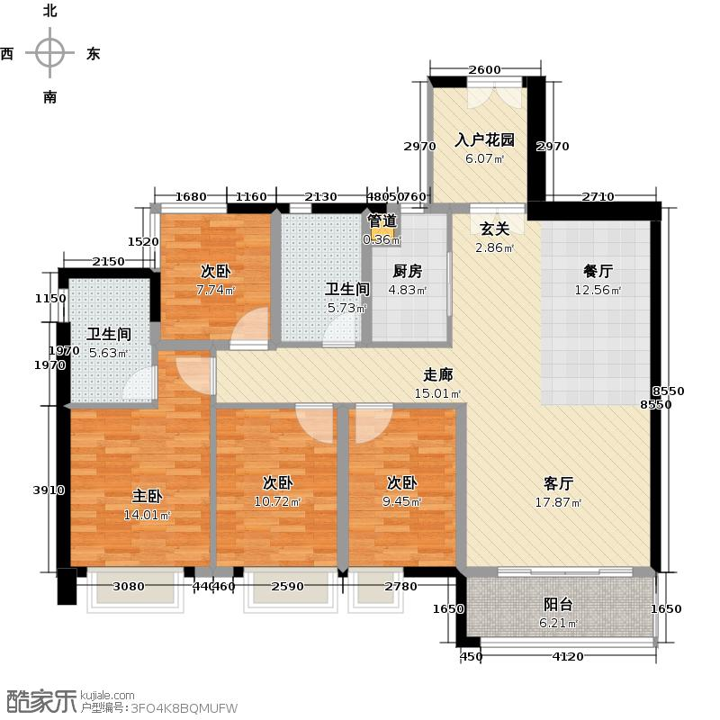 M-CITY142.00㎡1栋(06+07)单位/2栋(04+05)单位户型4室1厅2卫1厨
