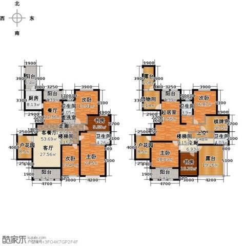 中乐百花公馆7室1厅4卫1厨455.00㎡户型图