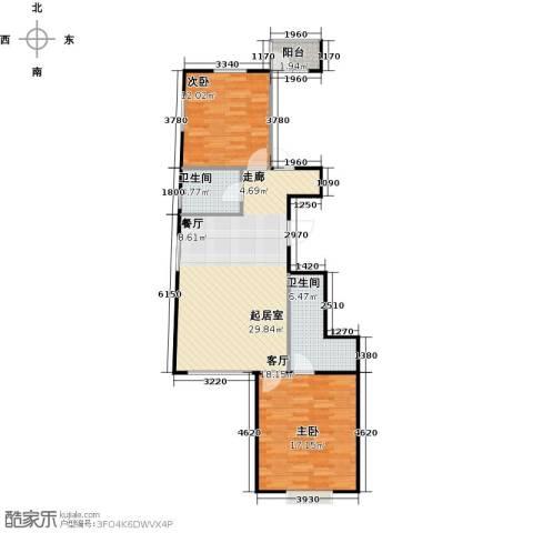 瑞雪春堂2室0厅2卫0厨86.00㎡户型图