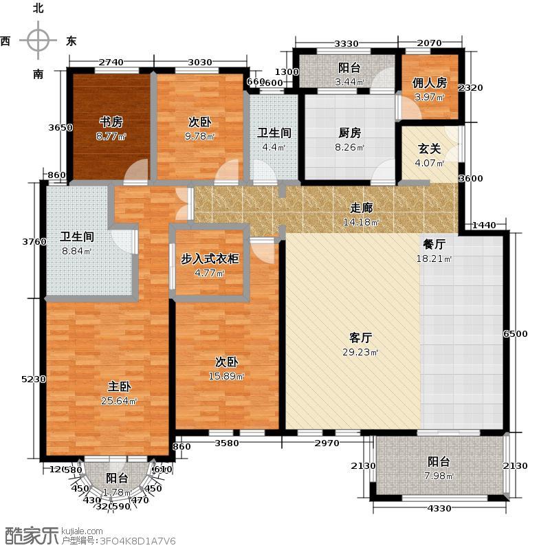 中国铁建・花语城196.00㎡楼王4-J5户型4室2卫1厨