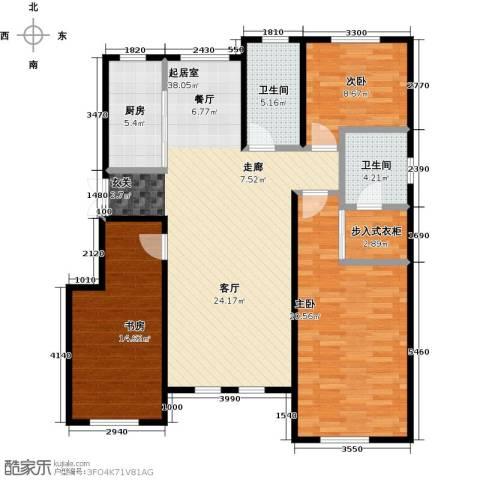 昂展公园里3室0厅2卫1厨137.00㎡户型图