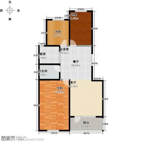 昂展公园里3室0厅1卫1厨111.00㎡户型图