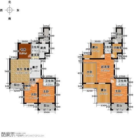 中乐百花公馆5室1厅4卫1厨296.00㎡户型图