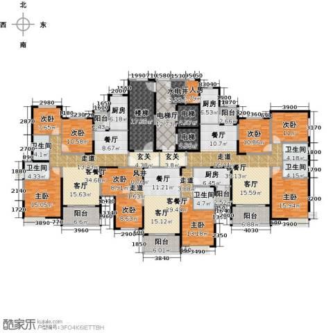 哈尔滨恒大绿洲9室3厅5卫3厨460.00㎡户型图
