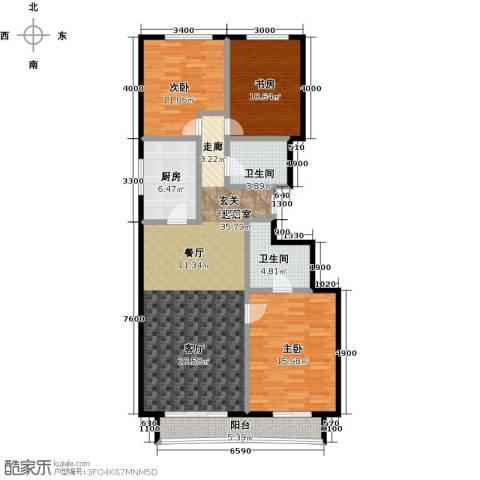 顺鑫・华玺瀚�3室0厅2卫1厨126.00㎡户型图