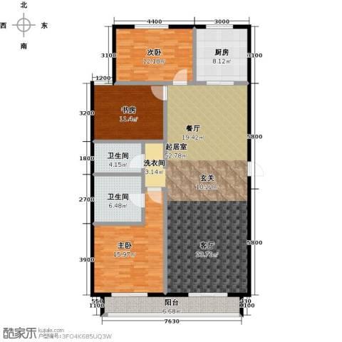 顺鑫・华玺瀚�3室0厅2卫1厨166.00㎡户型图