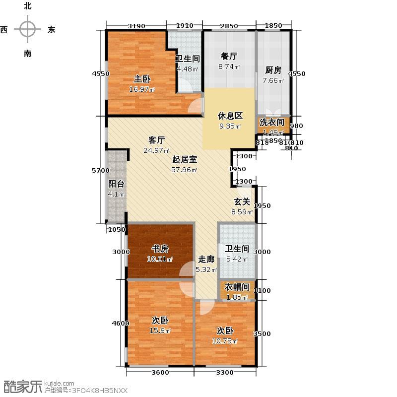 京汉铂寓(顺义)174.37㎡M/M反户型4室2卫1厨