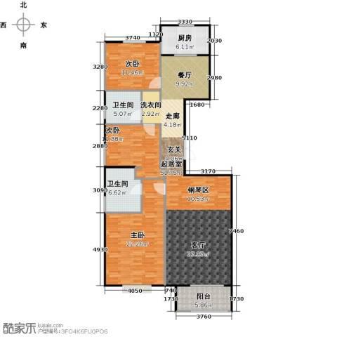 万通天竺新新家园・溪悦府3室0厅2卫1厨135.00㎡户型图