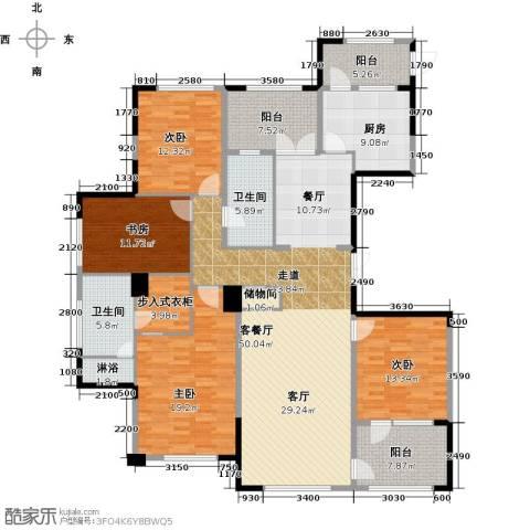 绿城玉兰花园4室1厅2卫1厨199.00㎡户型图