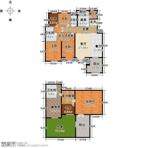 中国铁建・花语城5室0厅3卫1厨337.82㎡户型图