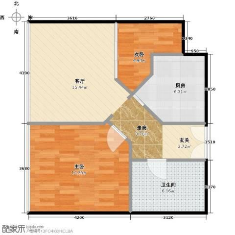 林达海渔广场2室0厅1卫1厨77.00㎡户型图