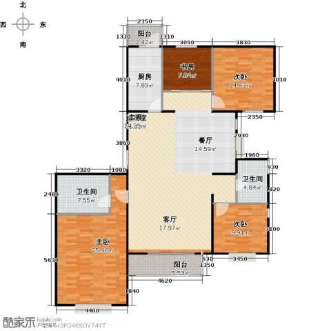 瑞雪春堂4室0厅2卫1厨165.00㎡户型图