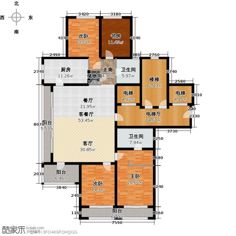 绿城西溪诚园221.69㎡F-3户型10室
