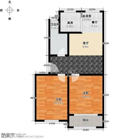 城南人家2室0厅1卫1厨70.00㎡户型图