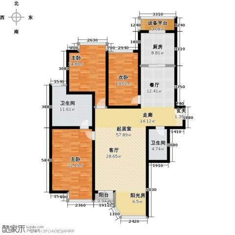 合生・滨江帝景3室0厅2卫1厨155.00㎡户型图