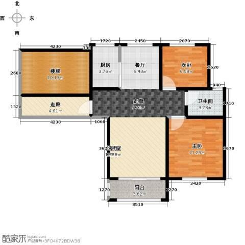 城南人家2室0厅1卫1厨72.00㎡户型图