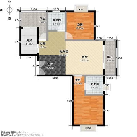 金狮薇尼诗花园2室0厅2卫1厨98.00㎡户型图