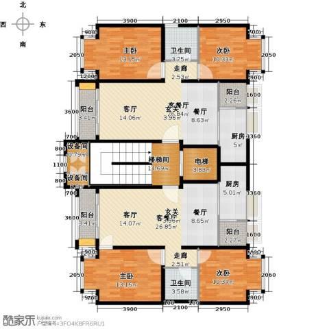 润泽悦溪4室2厅2卫2厨149.46㎡户型图