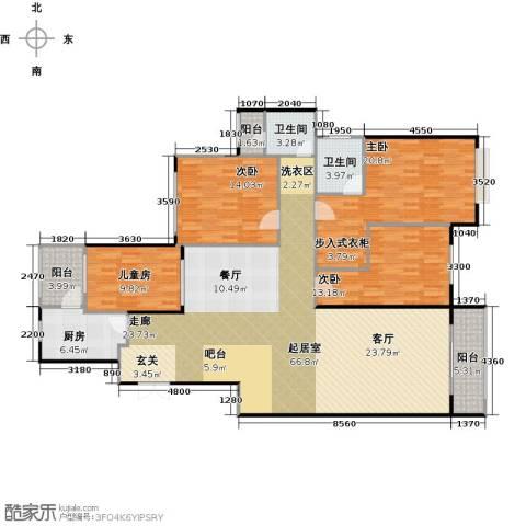 水印长堤蓝泊湾4室0厅2卫1厨185.00㎡户型图