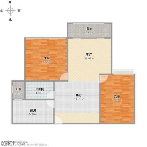 圣约翰名邸2室1厅1卫1厨122.00㎡户型图