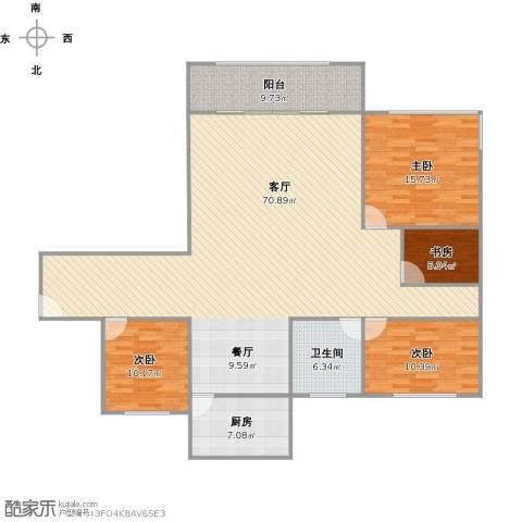 星河世纪城三期4室1厅1卫1厨179.00㎡户型图